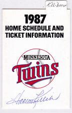 1987 Harmon Killebrew Autograph Minnesota Twins Home Schedule Super America AUTO