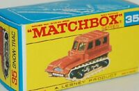 Matchbox Lesney  No 35 Snow-Trac  empty Repro F style Box