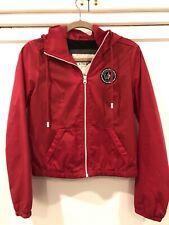 Abercrombie &Fitch Red Women's Raincoat Jacket Windbreaker Hollister S