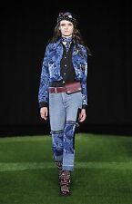 $398 Marc By Marc Jacobs Women Floral Patchwork Zipped-Knees Jeans Pants 31