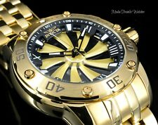 Invicta Mens Speedway 49mm Turbine Automatic Black Dial Gold Tone Bracelet Watch