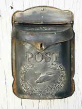 Vintage Style Metal Bird Mailbox Letter Wall Mount French Postbox Galvanized
