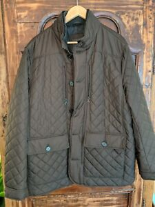 M&S Collection Chocolate Brown Quilted Warm Jacket Coat XL