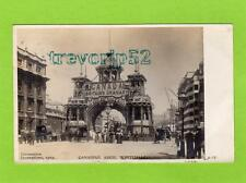 1902 Coronation Canadian Arch Whitehall London RP pc used 1902 Ref C131