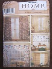 SIMPLICITY 9606 HOME DECOR WINDOW TREATMENTS VALANCE, SWAGS SHADES. 1 SIZE. NEW