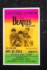 Beatles Tour Poster 1964 City Park New Orleans La