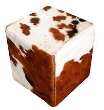 Pouf modello cavallino made in italy pelle di bovino con colori fantasia
