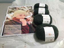 Rowan Alpaca Merino DK Wheatland Hat & Cowl Kit 4 x 25g Balls Ragdale Green 106