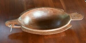 Carved Wooden Bowl, Papua New Guinea, Trobriand Islands