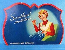 "Vintage ""Sweetheart"" Needle Case Book"