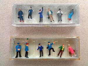 HO Scale Preiser Figures, Amtrak Crew, Workers and Passengers- New in the box.