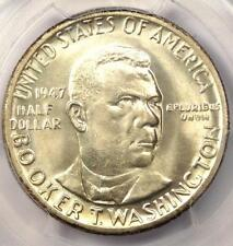 1947 BTW Booker T Washington Silver Half Dollar 50C - PCGS MS66 CAC - $400 Value