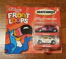 Vintage 2001 Matchbox Kellogg's Froot Loops Ford Focus & VW Concept 1 New