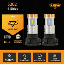 AUXBEAM 4Sides 5202 LED Fog Light Bulbs for 2007-2015 Chevy Silverado 1500 White
