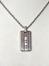 Tiffany & Co Sterling Silver ATLAS Dog Tag Pendant Necklace 2003 21.2 Grams 925