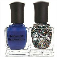 Deborah Lippmann Happy Birthday & What Boys Like Nail Lacquer Duo‏ Full Size NIB