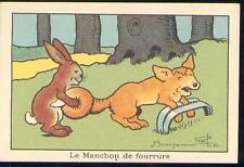 Chromo Blédine Jacquemaire Benjamin Rabier lièvre renard piège hare fox trap