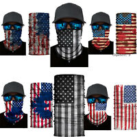 US Flag Neck Warmer Gaiter Face Scarf Over Balaclava Headwear Bandana Hats