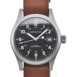 HAMILTON Khaki field H694190 black Dial Hand Winding Men's Watch T#104941