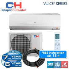 Alice 12,000 BTU 115V Ductless AC Mini Split Heat Pump 16 SEER FREE15ft Line Set