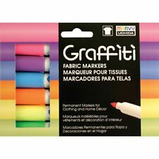 Uchida Graffiti Fabric Markers 6/Pkg-Fluorescent -560-6C