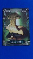 2016 Star Wars Masterwork Metal - Alien Identification Guide Momaw Nadon #9/10