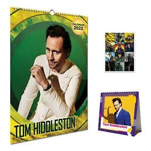 Tom Hiddleston Bundle 2022 Wall Calendar, Desktop Calendar & Gift 12 Stickers