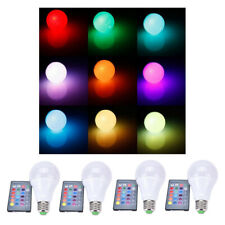 4x 10W CSmart RGB LED Light Bulb w/Remote Control Dimmable Lamp Bulbs E27