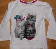 tolles Langarm - Shirt Gr 122 Topolino Katzen super