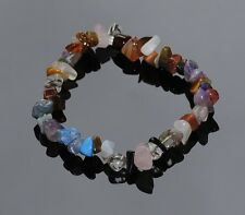 Mixed Crystal Gemstone Chip Bracelet in Gift Bag