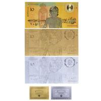 WR 3X 1988 Australia $10 Bicentennial Polymer Note 24K Gold Silver Plated /w COA