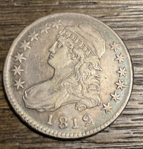 1812 Capped Bust Half Dollar Very Nice Original Coin