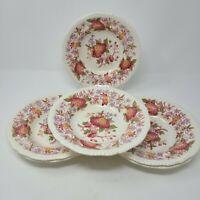 "Vintage Copeland Spode ""Spode's Aster"" Pattern Salad Soup Plates/Bowls Lot of 6"