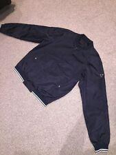 Mens Prada Black Bomber Jacket Size 50 Medium Large Windbreaker RRP £600