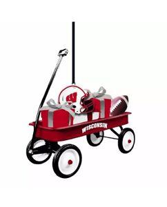 Wisconsin Badgers Team Sports America Team Wagon Ornament