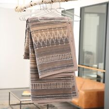 feb42bc6f431 IBENA Ethnic Earthen Tone Jacquard Woven Throw Blanket Sihara