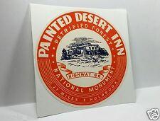 Painted Desert Inn, Route 66 Vintage Style Travel Decal / Vinyl Luggage Sticker