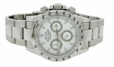 Unpolished Rolex Daytona 116520 Engraved Rehaut Steel White Cosmograph Watch Box