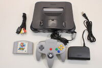 NINTENDO 64 Black Console Mario 64 Cont 7/10 N64 NTSC REGION FREE J716