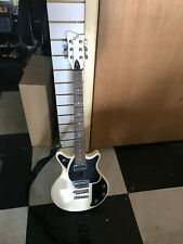 first act volkswagon guitar in black and white with strap