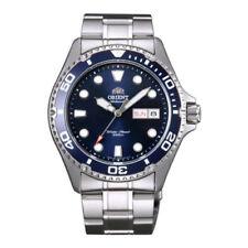 Silberne Orient Armbanduhren mit Datumsanzeige