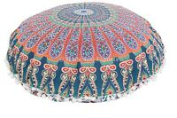 """32"""" Indian Mandala Floor Pillow Case Large Ottoman Poufs Cushions With Insert"""
