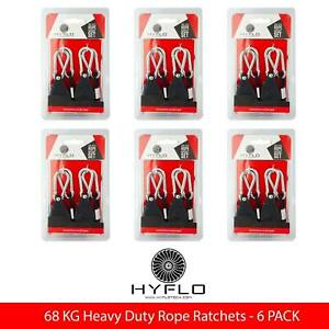 6 Pairs HYFLO 68kg Adjustable Rope Ratchet Heavy Duty Grow Light Hanger Metal Ge