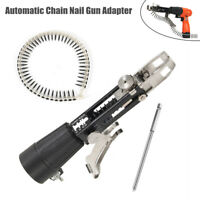 Automatic Chain Nail Gun Adapter Screw Spike Electric Drill Woodworking Tool Kit