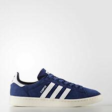 de186e5cee7d New Mens Adidas Originals Campus Shoes Suede Dark Blue White BZ0086