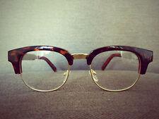 Tortoise-Shell Patten Club-master Retro Vintage nerd Geek Glasses 60s 80s