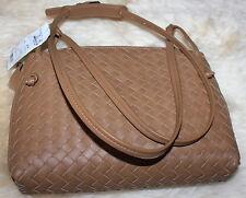 Bottega Veneta Camel N Leather Intrecciato Woven Tie Knot Crossbody Bag $1580