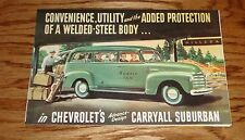1948 Chevrolet Truck Suburban Carryall Models Foldout Sales Brochure 48 Chevy