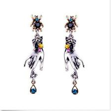 NEW Betsey Johnson Spider Gem Earrings DROP/ DANGLING EARRINGS GIFT A318