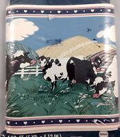 Borden Cow Print Wallpaper Border Self Stick Discontinued 5yd 15ft Vintage 90s
